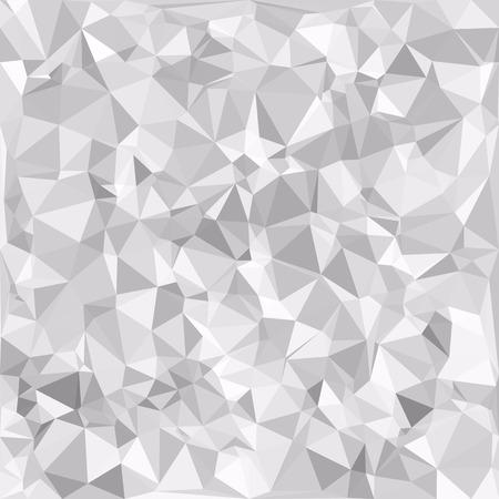 灰色の白い多角形の背景、創造的なデザインテンプレート