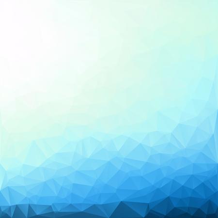 青い多角形のモザイクの背景、創造的なデザイン テンプレート 写真素材 - 63980437