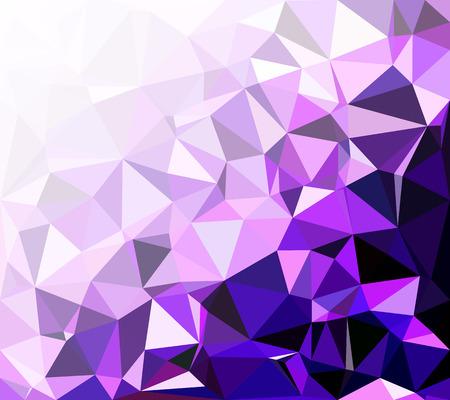 Purple Polygonal Mosaic Background, Creative Design Templates