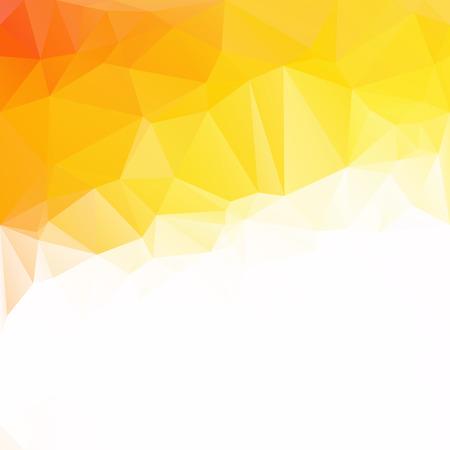 Orange Polygonal Mosaic Background, Creative Design Templates