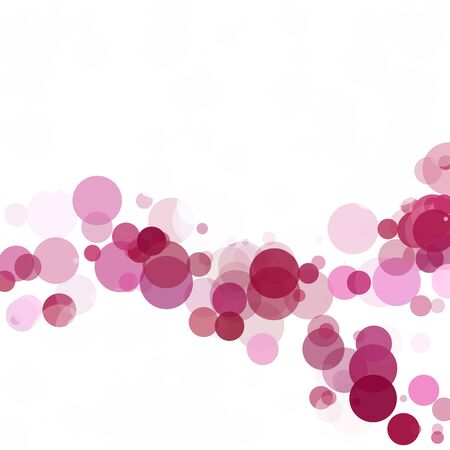 Bubbles Circle Dots Unique Purple Bright Vector Background