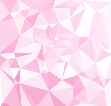 Pink Polygonal Mosaic Background, Creative Design Templates Illustration