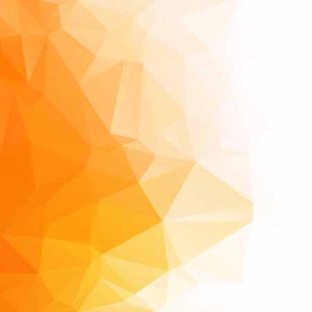 Orange polygonaler Mosaik-Hintergrund, kreative Design-Schablonen