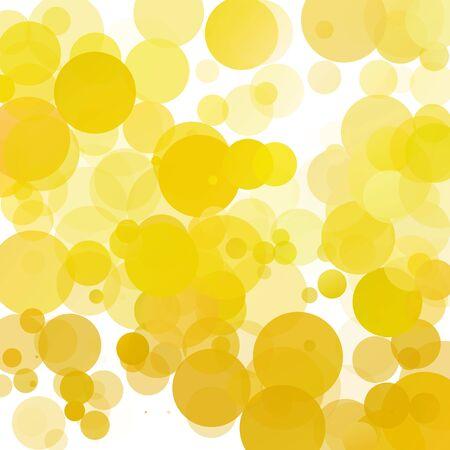 Bubbles Unique Yellow Bright Vector Background