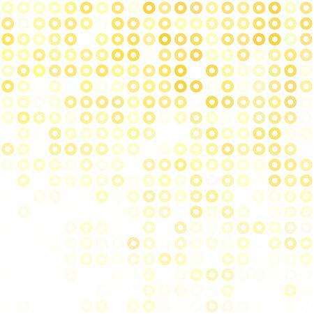 Fonds de donuts jaunes, modèles de conception créative Vecteurs