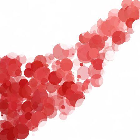 Bubbles Unique Red Bright Vector Background Illustration