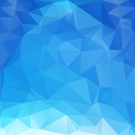 파란색 다각형 모자이크 배경, 크리 에이 티브 디자인 템플릿