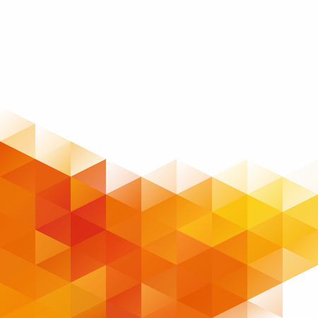 Orange Grid Mosaic Background, Creative Design Templates Illustration
