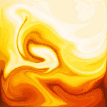 Orange Digital Acrylic Color Swirl Or Similar Marble Twist Texture Background
