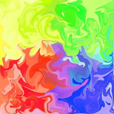 Colorful Digital Acrylic Color Swirl Or Similar Marble Twist Texture Background
