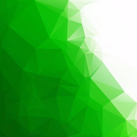 Green Polygonal Mosaic Background, Creative Design Templates Vector illustration.