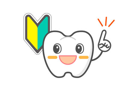 Periodontal disease and gum inflammation Healthy tooth character