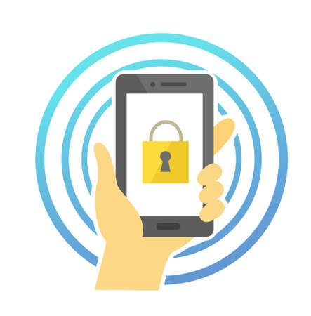 Smartphone and security lock malware infection