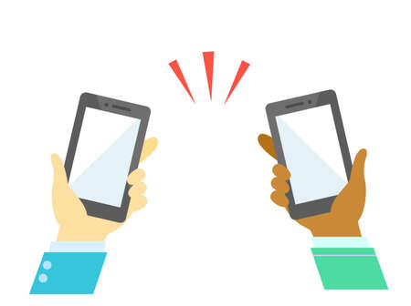 people and smart phone communication 版權商用圖片 - 157519752