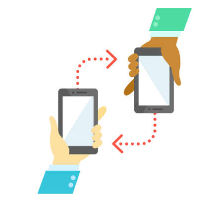 people and smart phone communication