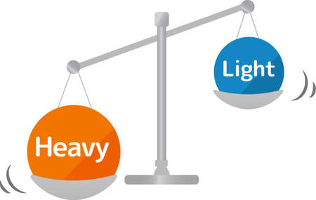 Simple balance set comparison diagram illustration 向量圖像