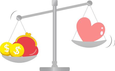 Simple balance set comparison diagram illustration 版權商用圖片 - 160528822