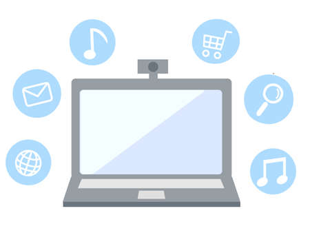 Online and computer icon illustration