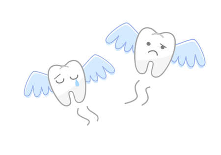 Elderly person tooth fell out: Dental Illustration