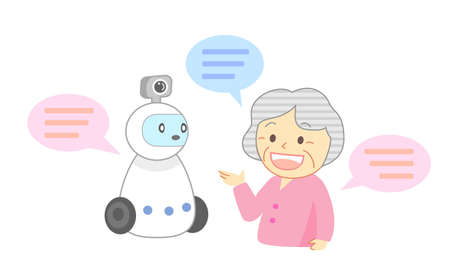 Watching robot talking to the elderly