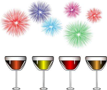 Il est image de celerabration colourfull ou la jouissance cr��e par illutrator CS5. Banque d'images