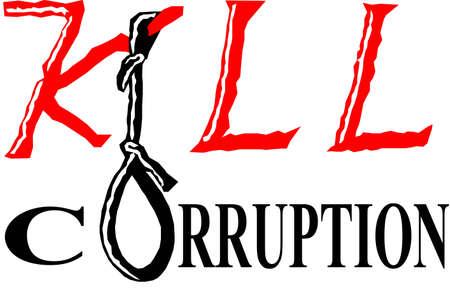 Il est le slogan de lutte contre la corruption, pour faire un monde libre de toute corruption. Banque d'images