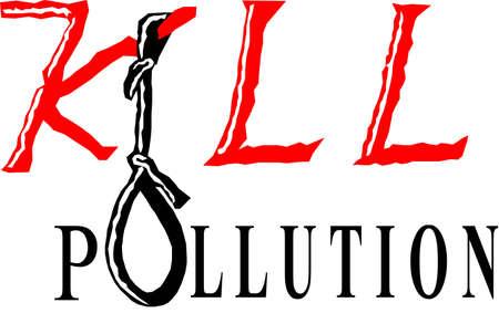 Il est le slogan contre la pollution, pour faire un monde exempt de pollution.