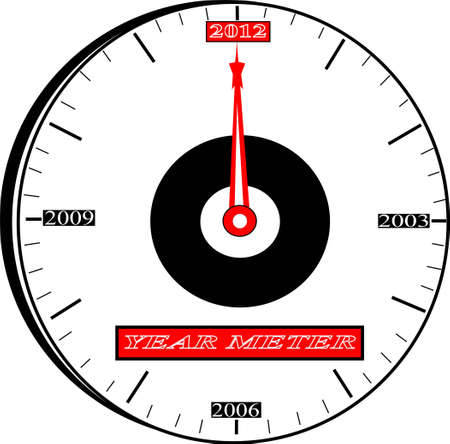 It is a picture of a clock, which used a year meter. Now it knocking at the door of 2012. Stock Photo - 13165930