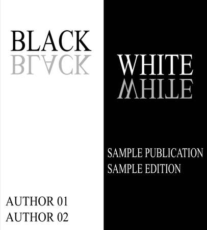 It is a picture of a sample cover page of a book, in black and white Illustration