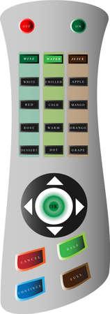 Il s'agit d'une image de salut-technologie � venir ultamodern � distance pour la s�lection de n'importe quel type de boisson de la machine. Illustration