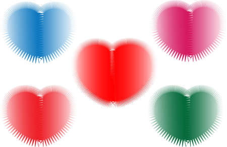 It is a picture of some colorful heart, it can be used as a wallpaper or theme.