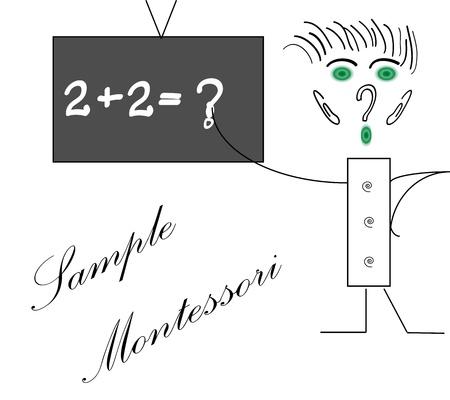Montessori enseignement Illustration