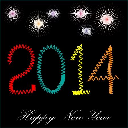 week end: Es la foto de la celebraci�n del nuevo a�o 2014, creado en ilustrador CS5 capa individual se crean para facilitar su uso