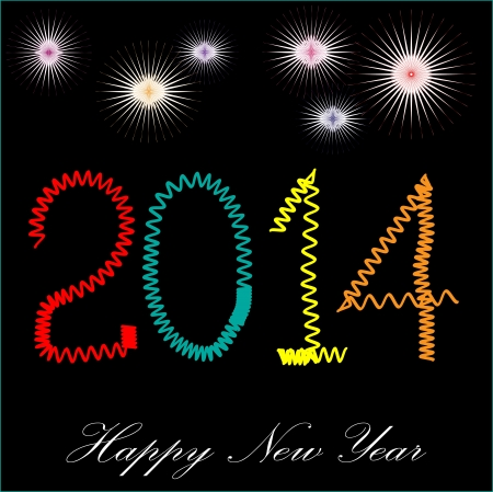 It is photo of celebration of coming new year 2014, created in illustrator CS5  Individual layer are created for easy use