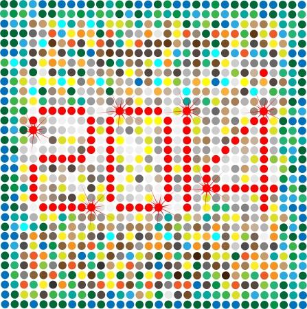 C'est la photo de Happy New Year 2014, cr�� dans Illustrator CS5 Il ya des couches individuelles sont cr��s pour chaque composant pour une utilisation facile et autre modification
