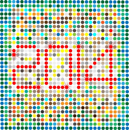 This is the photo of Happy New Year 2014, created in illustrator cs5  There are individual layer are created for each component for easy use and further modification  Stock Vector - 18457496