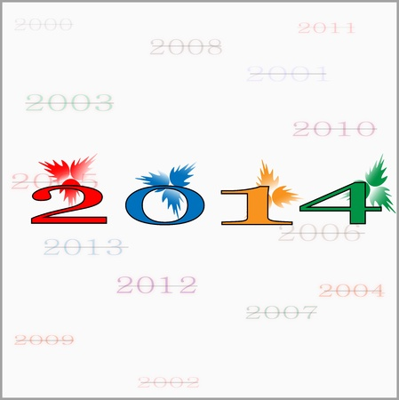 This is the photo of Happy New Year 2014, created in illustrator cs5  There are individual layer are created for each component for easy use and further modification
