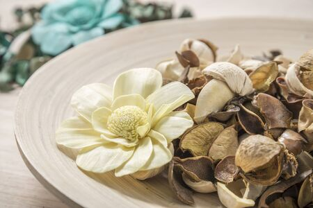 potpourri: potpourri decorate on wood background