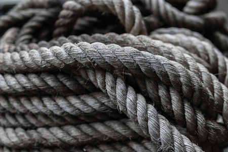 close up of rope texture