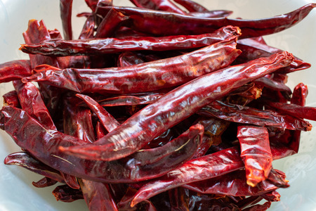 Close up of dried chilli