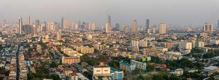 Bangkok, Thailand-February 20, 2020: Aerial view of Bangkok skyscraper Thailand