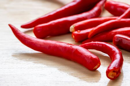 close up of red chilli