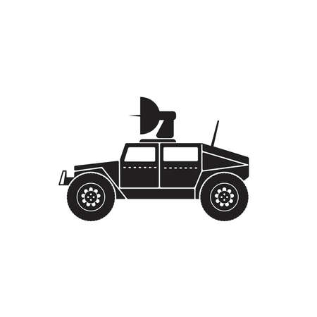 Illustration vector graphic of war truck icon fit for war car, army, transport, vehicle, armored etc Çizim