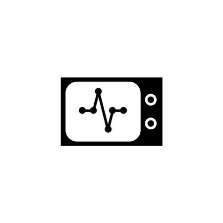Illustration Vector graphic of heart pulse icon. Fit for cardiogram, healthy, diagnosis etc. Ilustração