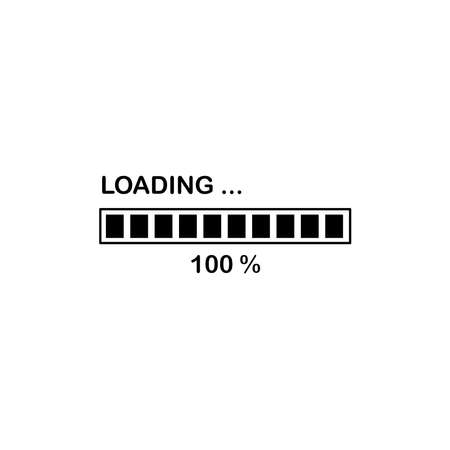 Illustration Vector graphic of loading bar icon. Fit for progress, interface, loader, waiting etc.