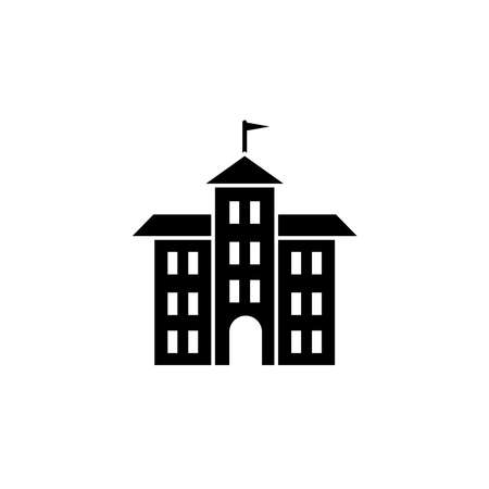 Illustration Vector graphic of school building icon. Fit for office, sign, structure, element, college, library, modern, object, education etc