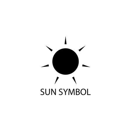 Illustration Vector graphic of sun icon. Fit for energy, weather, climate etc.
