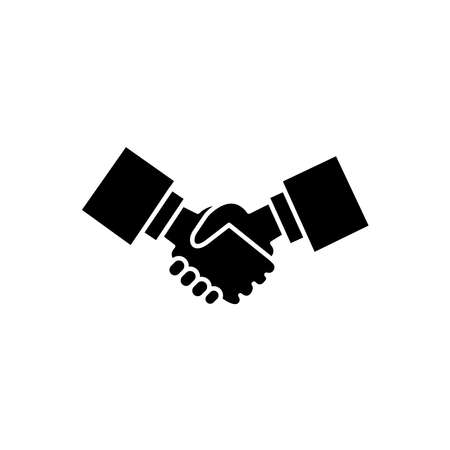 Illustration Vector graphic of handshake icon template, fit for businessman, friendship, cooperation etc.