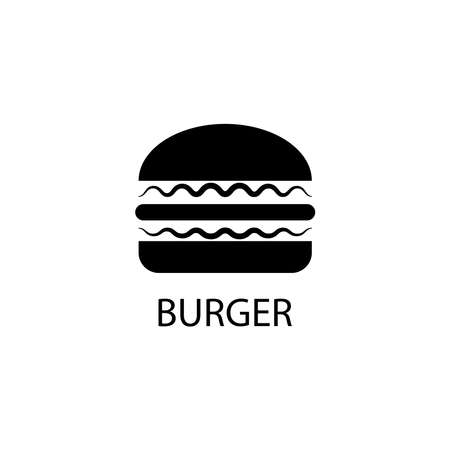 Illustration Vector graphic of burger icon. Fit for american food, calorie, fast food etc.