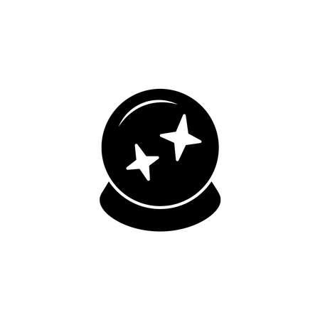 Illustration Vector graphic of magic ball icon. Fit for magician, fortune, prediction etc. Ilustración de vector